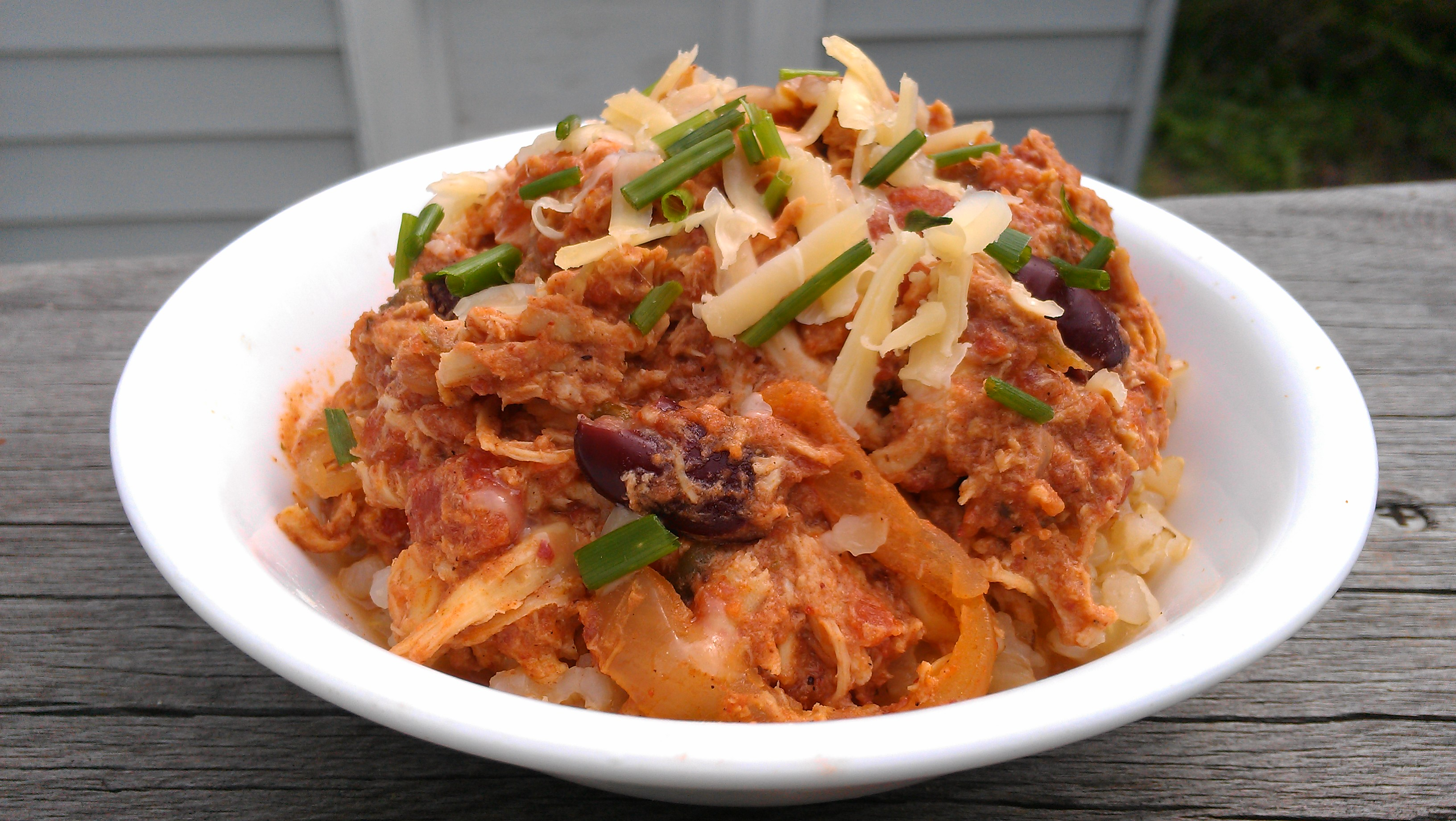 Fast and Easy Slow Cooker Spicy Shredded Chicken and Beans | three ...