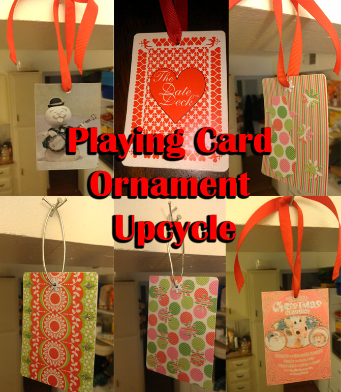Playing Card Ornament Upcycle