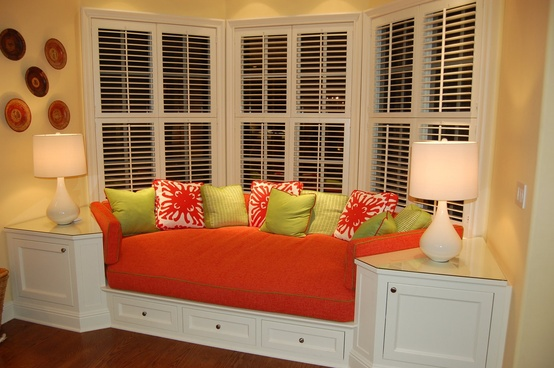 Though I would prefer a bay window seat. Just add a view and some  bookshelves to this one while we're dreaming.