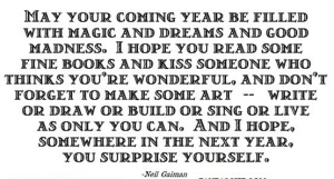 gaiman new year wishes