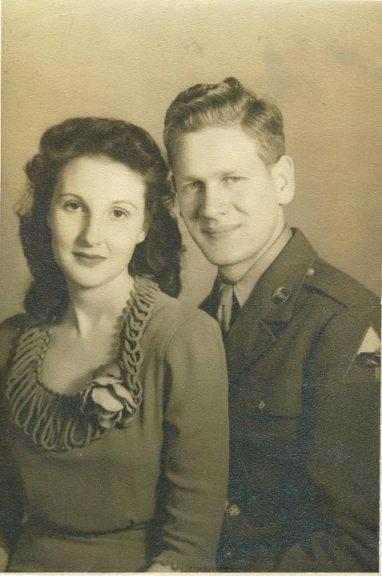 Great Grandma Darlene and Great Grandpa Leon in 1945