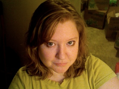 Here's a pic of the cut, un-styled, before the dye. The lighting is crummy, but you can see (kind of) that I'm a dark blonde.