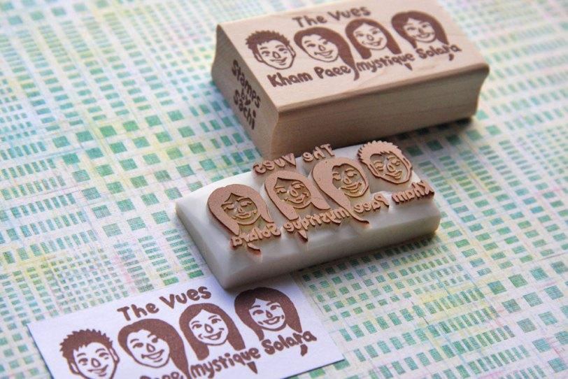 custom stamp portrait