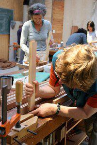 women woodworking